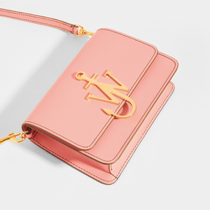 JW ANDERSON Anchor Logo Small Crossbody in Pink Leather