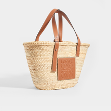 Load image into Gallery viewer, LOEWE Medium Basket Bag in Tan