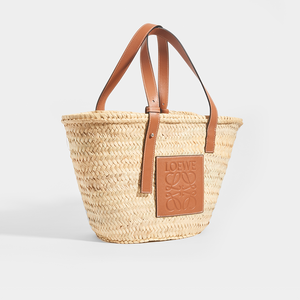 LOEWE Medium Basket Bag in Tan