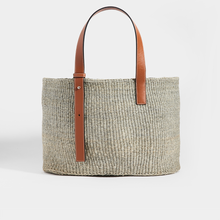Load image into Gallery viewer, LOEWE Basket Medium Woven Tote in Grey