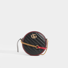 Load image into Gallery viewer, GUCCI GG Marmont Mini Round Shoulder Bag