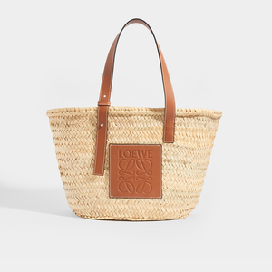 LOEWE Medium Basket Bag in Tan - Front View