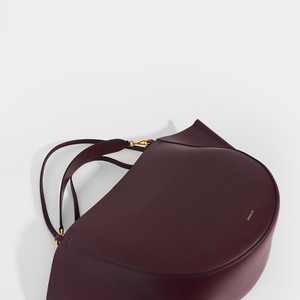 WANDLER Mia Large Leather Tote in Burgundy