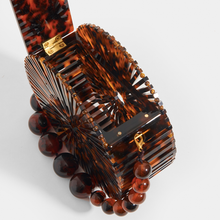 Load image into Gallery viewer, CULT GAIA Brown Luna Bag in Tortoiseshell Acrylic