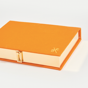 OLYMPIA LE TAN Book Clutch Capri in Orange