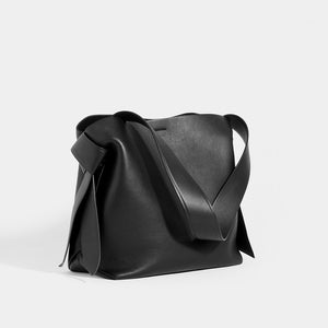 ACNE STUDIOS Musubi Midi Knotted Leather Shoulder Bag