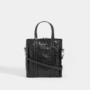 BALENCIAGA Bazar XS Textured Leather Tote