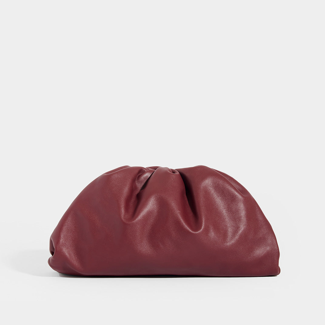 BOTTEGA VENETA Burgundy Large Pouch
