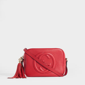 GUCCI Soho Small Leather Disco Bag in Red