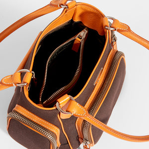 PRADA Vintage Canapa Multi Pocket Bowler Bag