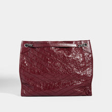 Load image into Gallery viewer, SAINT LAURENT Niki Shopper Tote in Burgundy