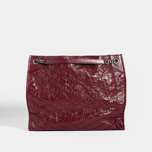 SAINT LAURENT Niki Shopper Tote in Burgundy