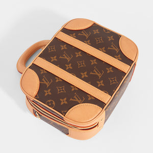 Top of LOUIS VUITTON Monogram Valisette PM Top Handle Bag in Brown