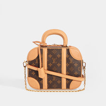 Load image into Gallery viewer, LOUIS VUITTON Monogram Valisette PM Top Handle Bag in Brown