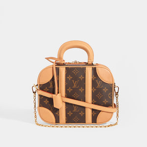 LOUIS VUITTON Monogram Valisette PM Top Handle Bag in Brown