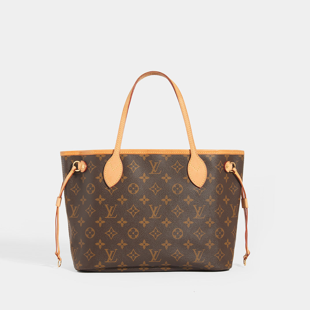 LOUIS VUITTON Monogram Neverful PM Tote in Brown