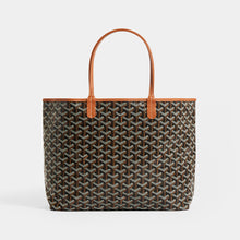 Load image into Gallery viewer, Back view of GOYARD Saint Louis PM Tote in Black