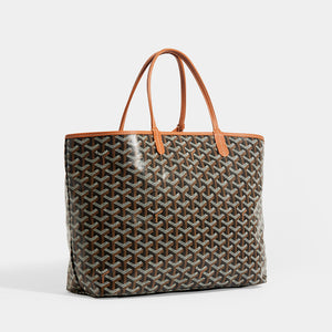 Side view of GOYARD Saint Louis PM Tote in Black