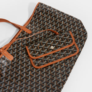 Purse detail of GOYARD Saint Louis PM Tote in Black