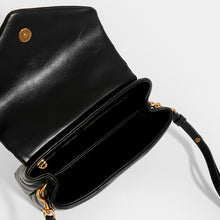 Load image into Gallery viewer, SAINT LAURENT Toy Loulou Shoulder Bag in Black Leather with Gold Hardware