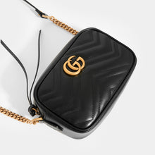 Load image into Gallery viewer, GUCCI GG Marmont Matelasse Mini Crossbody in Black
