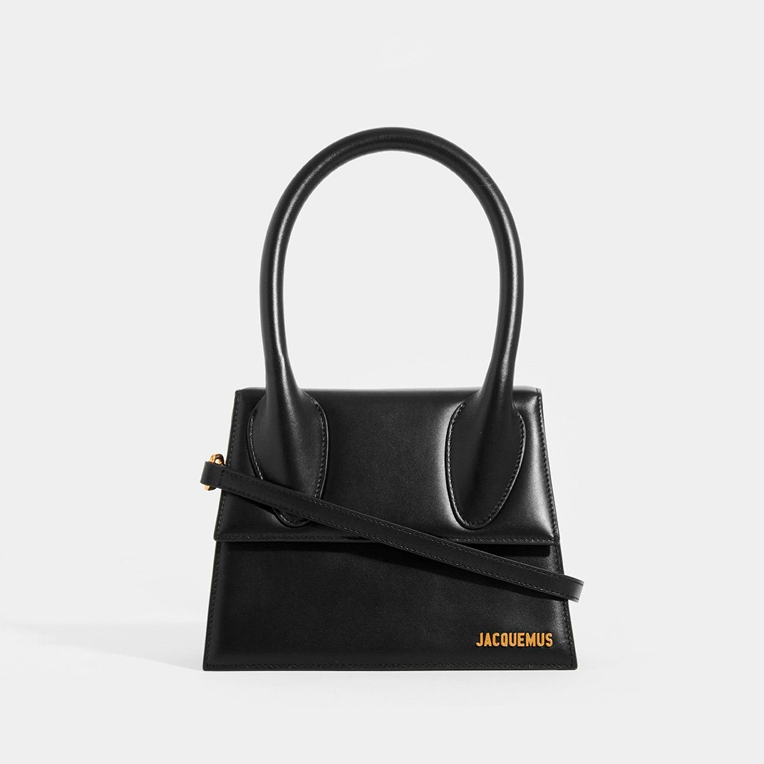 JACQUEMUS Le Grand Chiquito in Black Leather