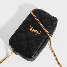 Load image into Gallery viewer, SAINT LAURENT Becky Quilted Leather Crossbody in Black