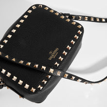 Load image into Gallery viewer, VALENTINO Rockstud Leather Camera Bag in Black Top View