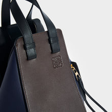 Load image into Gallery viewer, LOEWE Hammock Small Tote in Chocolate/Navy