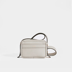 LUTZ MORRIS Maya Medium Crossbody Bag in Stone Lizard Embossed Leather