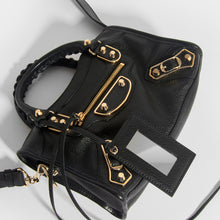 Load image into Gallery viewer, BALENCIAGA Mini City Bag With Gold Hardware in Black Leather