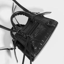 Load image into Gallery viewer, BALENCIAGA Neo Classic City Nano Croc-effect Leather Bag