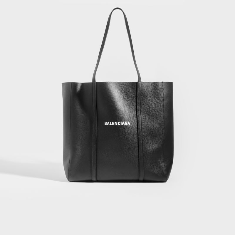 BALENCIAGA Small Everyday Tote in Black Leather