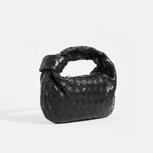 Load image into Gallery viewer, BOTTEGA VENETA Mini Jodie Top Handle Bag in Black Intrecciato Leather