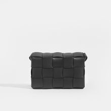 Load image into Gallery viewer, Back of BOTTEGA VENETA Cassette Maxi Intrecciato Bag in Black Leather