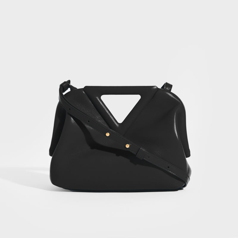 BOTTEGA VENETA Point Small Leather Bag in Black