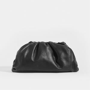BOTTEGA VENETA Large Pouch in Black Nappa Leather with magnetic snap close