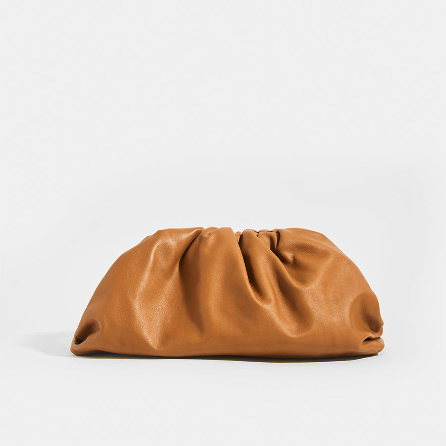 Rear of BOTTEGA VENETA Tan Large Pouch