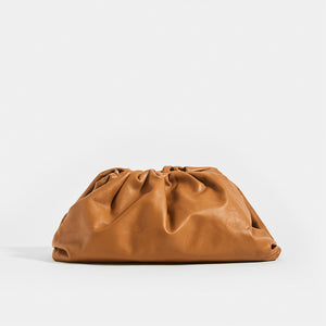 Front of BOTTEGA VENETA Tan Large Pouch