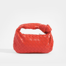 Load image into Gallery viewer, BOTTEGA VENETA Mini Jodie Intrecciato Leather Top Handle Bag in Red