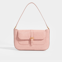Load image into Gallery viewer, BY FAR Miranda Shoulder Bag in Pink Lizard-Effect Leather