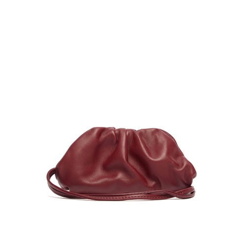 BOTTEGA VENETA The Pouch 20 Burgundy with strap