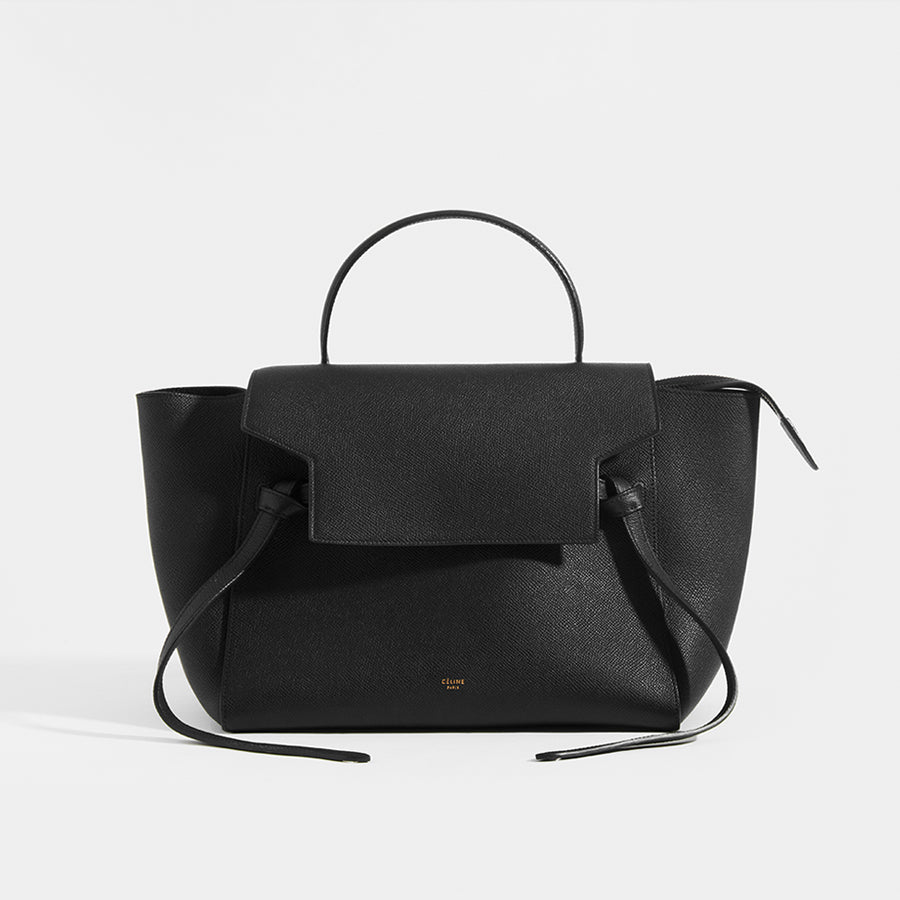 CELINE Mini Belt Bag Grained Leather in Black