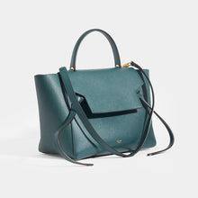Load image into Gallery viewer, CELINE Mini Belt Bag in Green Grained Calfskin  with strap and top handle
