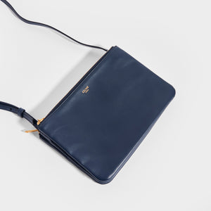 CELINE Small Trio Bag in Navy