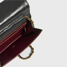 Load image into Gallery viewer, CHANEL Vintage Quilted Classic Single Flap Bag in Black Lambskin