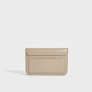 "CHLOÉ ""C"" Clutch With Chain in Motty Grey"