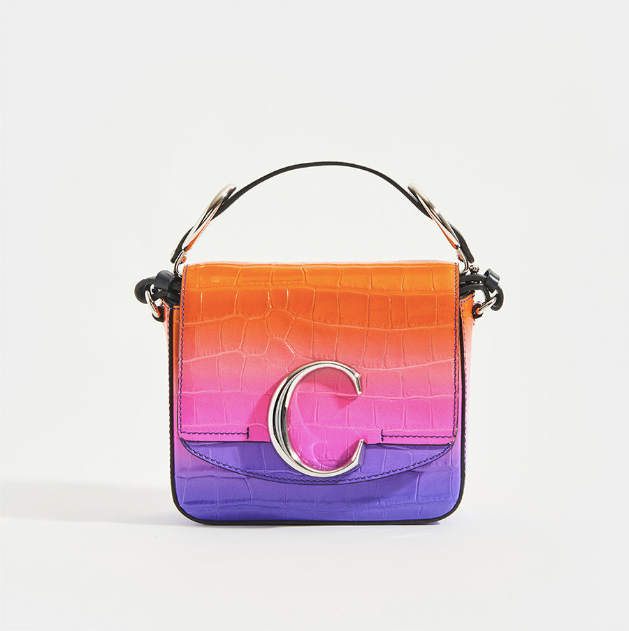 CHLOÉ C Mini Bag in multicolour with croc-print leather