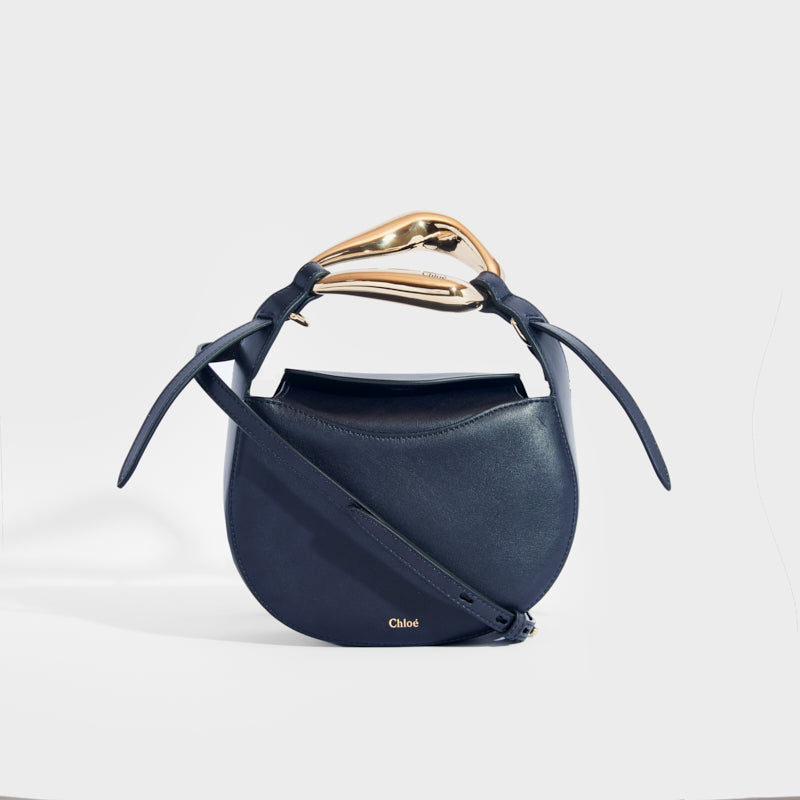 CHLOÉ Kiss Small Leather Tote in Full Blue