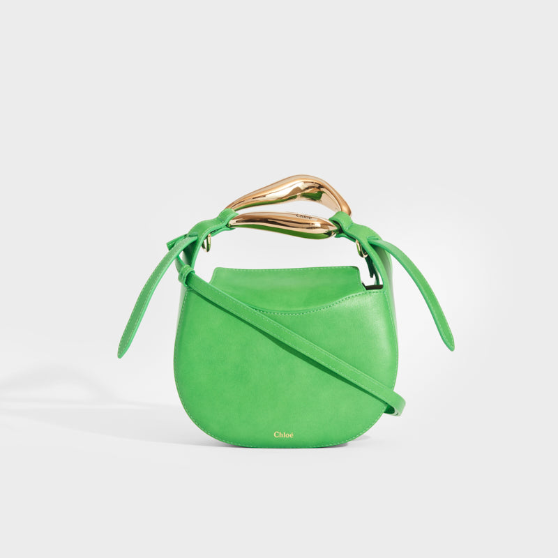 CHLOÉ Kiss Small Leather Tote in Green